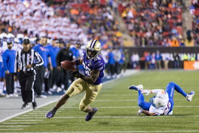 Pro Husky Highlights: Ahmed's first touchdown, Pan's top-ten finish, and Plum's UFC matchmaking