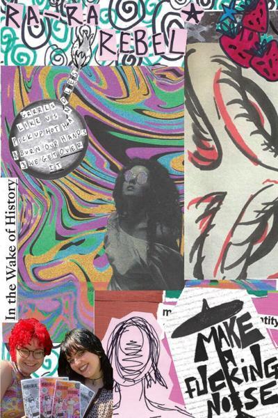 Ra-Ra Rabel zine collage