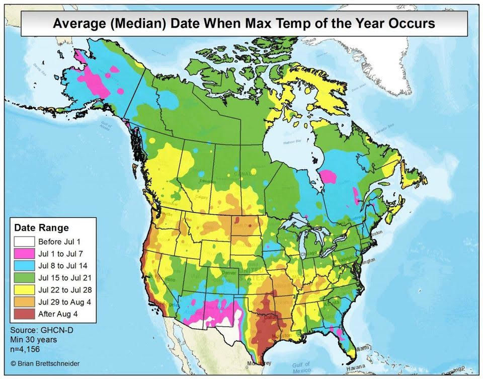 Why aren't Seattle's temperature extremes aligned with the solstices?