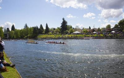 'There's one stadium in the world, and it's here in Seattle': UW Rowing embraces spectacle of Windermere Cup