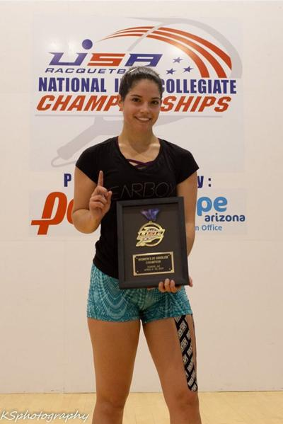 National champion Hollie Scott eats, sleeps, and breathes racquetball
