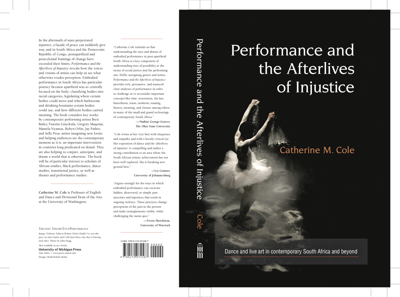 """""""Performance and the Afterlives of Injustice"""""""