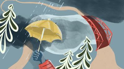 Wanderings -- column illustration