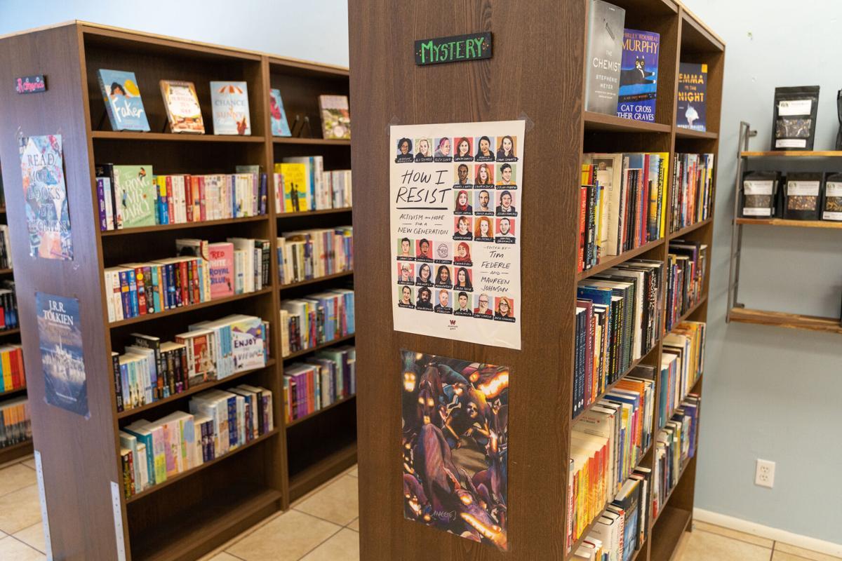 Never-ending Bookshop book shelf