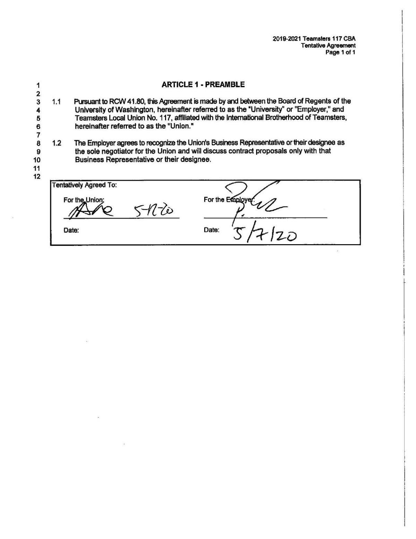 New UWPD Employee Contract