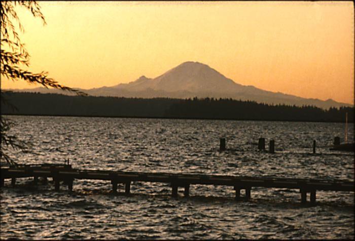Lake Washington and Mount Rainier