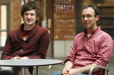 UW doctoral student Matt Kay, left, and Assistant Professor of human centered design and engineering Sean Munson, right, recently released a study finding that Google search images significantly underrepresent woman in certain professional positions.
