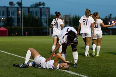 Two first half goals sink Huskies as they remain winless in conference play