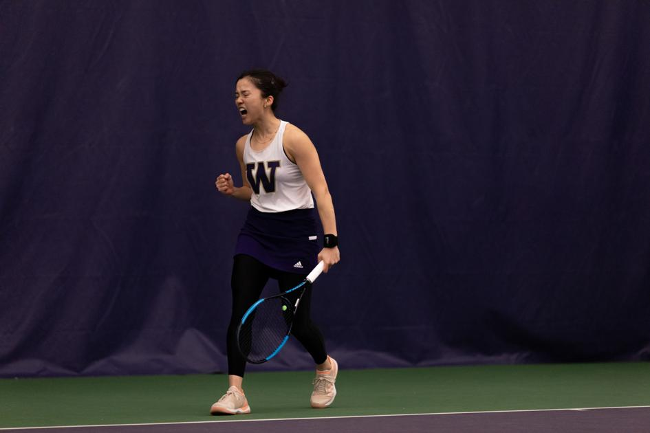 Huskies rally in singles after losing doubles point