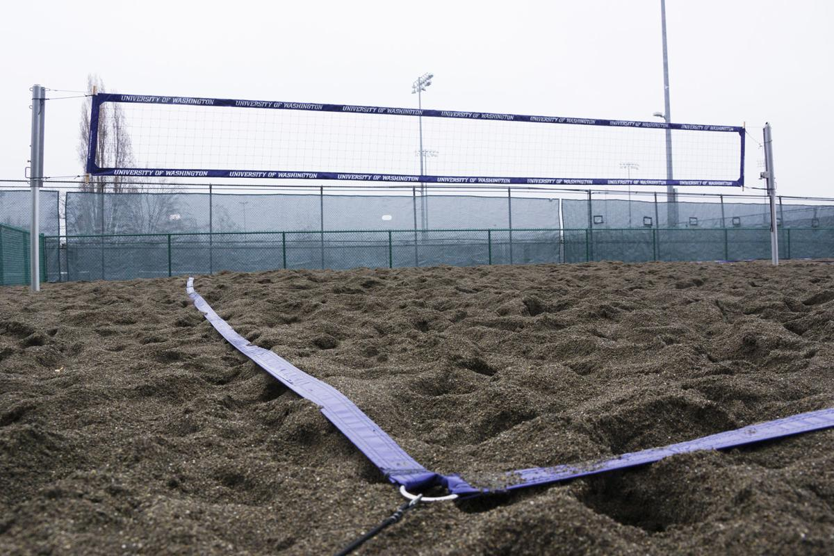 new practice court for beach volleyball is completed local