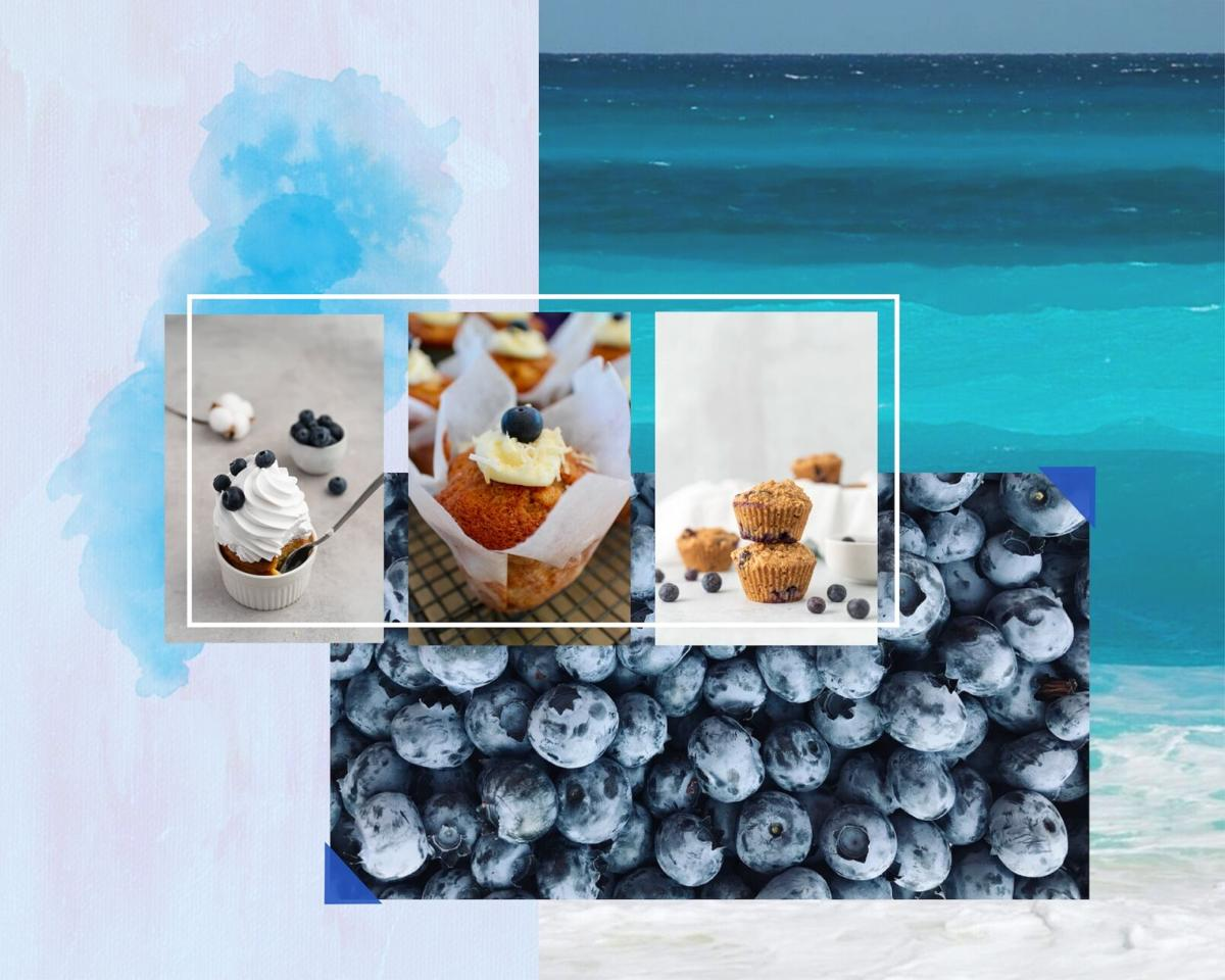 blueb muffins collage