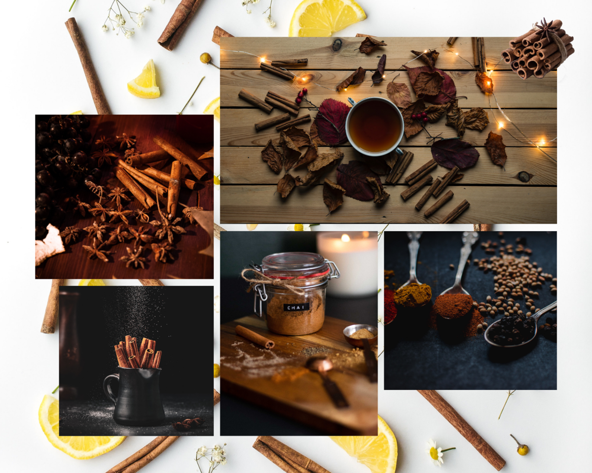 Cinnamon Logs Collage