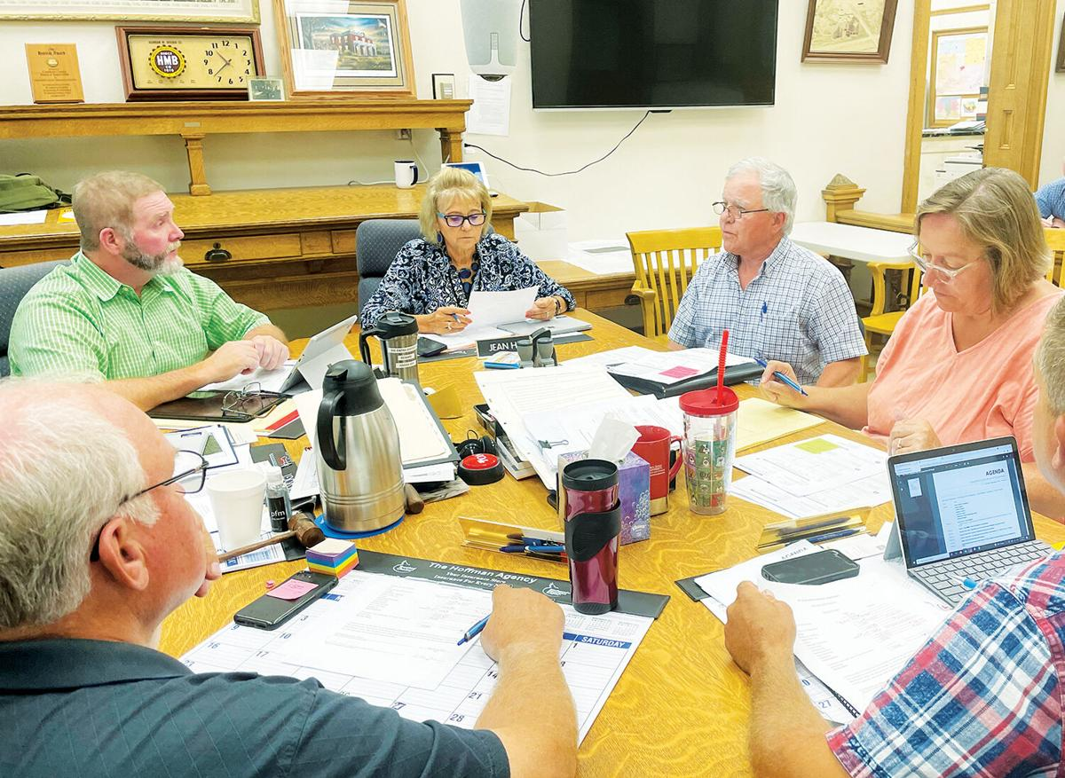 Terry Crawford at Crawford County BOS meeting, 9-7-2021