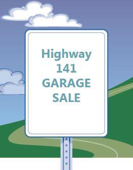 Highway 141 garage sale