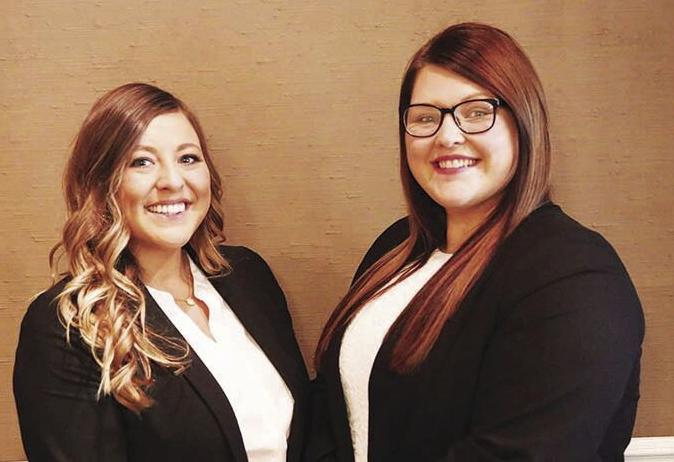 Danielle Sondag and Katie Fitzsimmons at Huebner Funeral Home