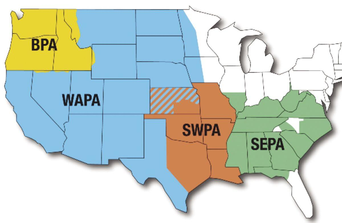 Western Area Power Administration map