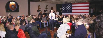 Pete Buttigieg speaks at Cronk's Cafe in Denison on Tuesday, November 26, 2019