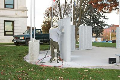 New names on Courthouse Veterans Memorial