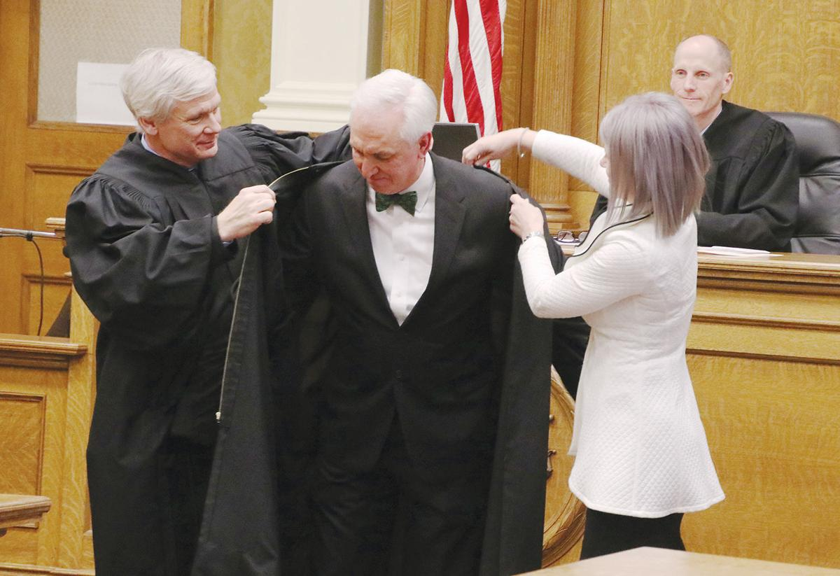 Judge Roger Sailer robing ceremony