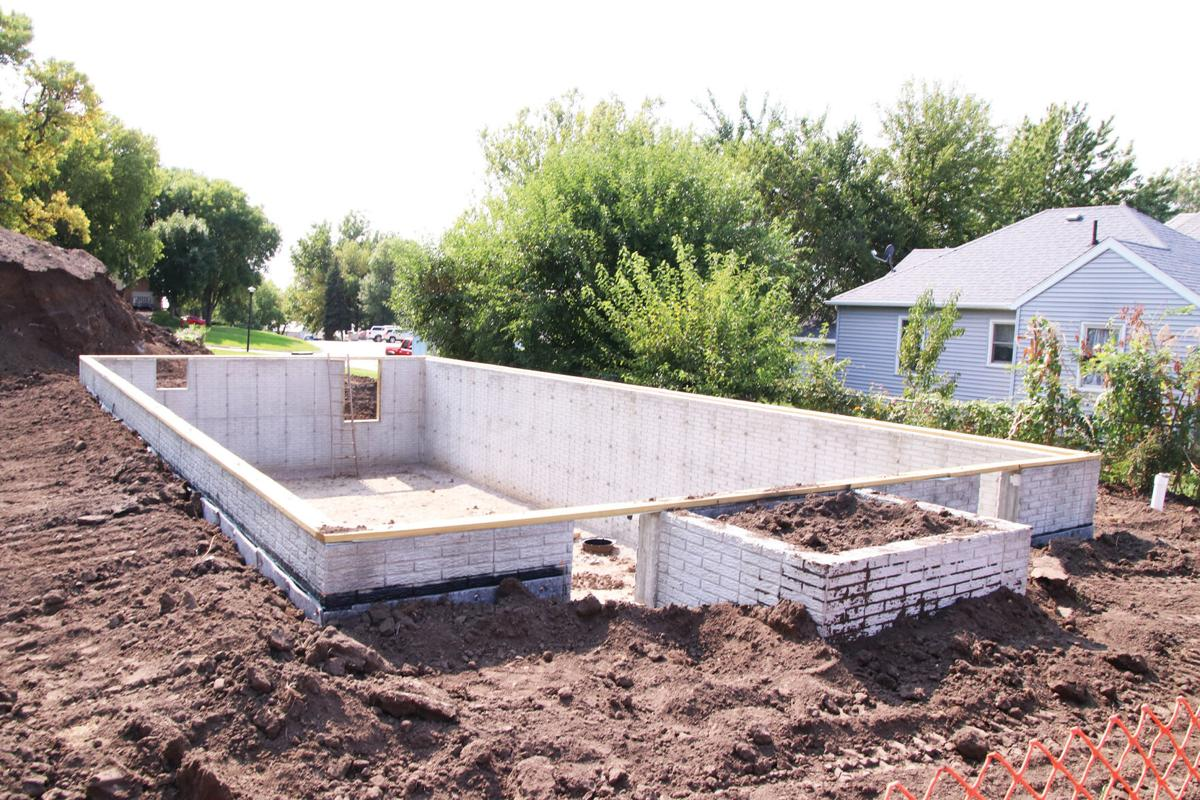 Foundation and basement for Homes for Iowa house on Avenue C in Denison