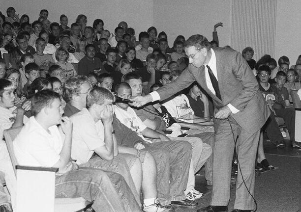 U.S. Sen. Chuck Grassley at Denison High School September 17, 2001