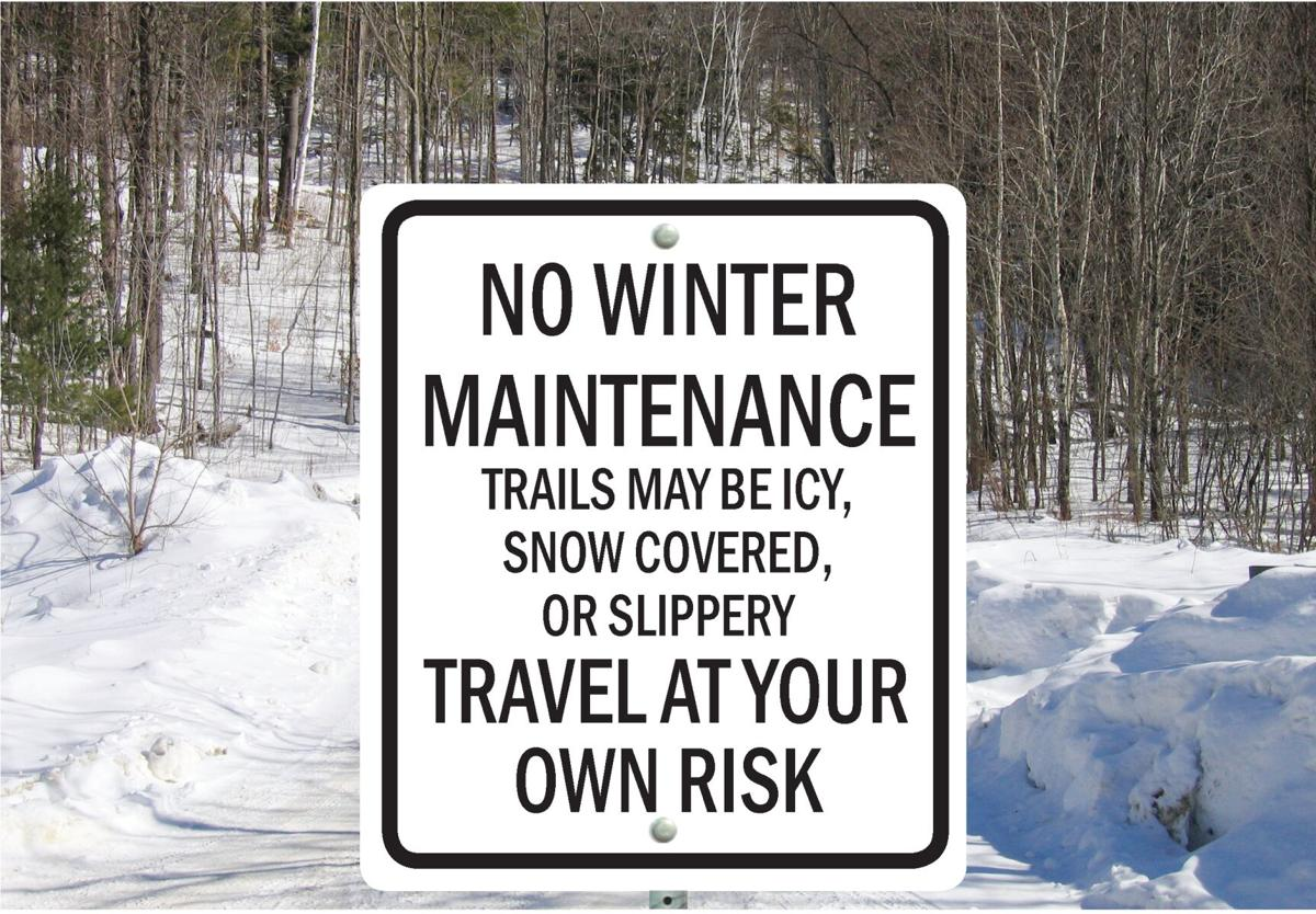 No Winter Maintenance Sign