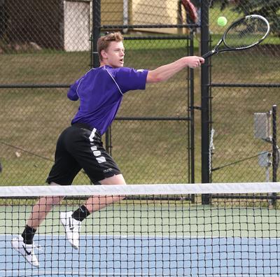 Monarch boys tennis vs. Heelan