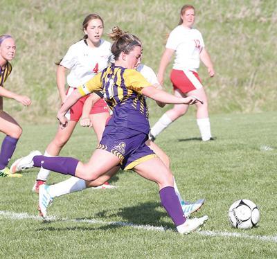 D-S girls vs. Mo. Valley soccer