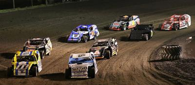 Racing action at Crawford County Speedway