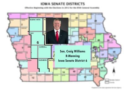 Iowa Sen. D 6, Craig Williams, R-Manning