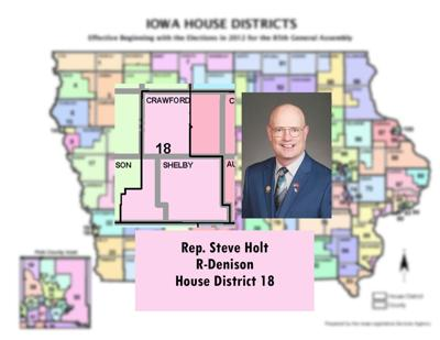Rep. Steven Holt, R-Denison, House D 18