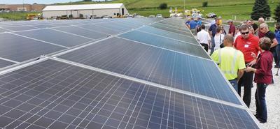 WIPCO solar panel array open house
