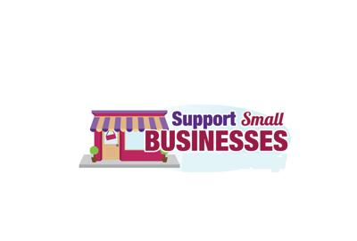 support small business graphic