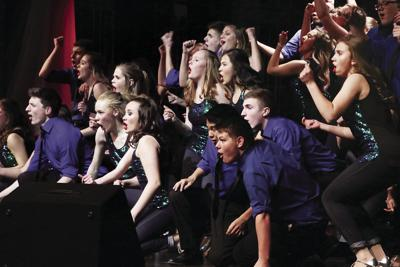 Show choir performing at the Pops Concert in March 2019