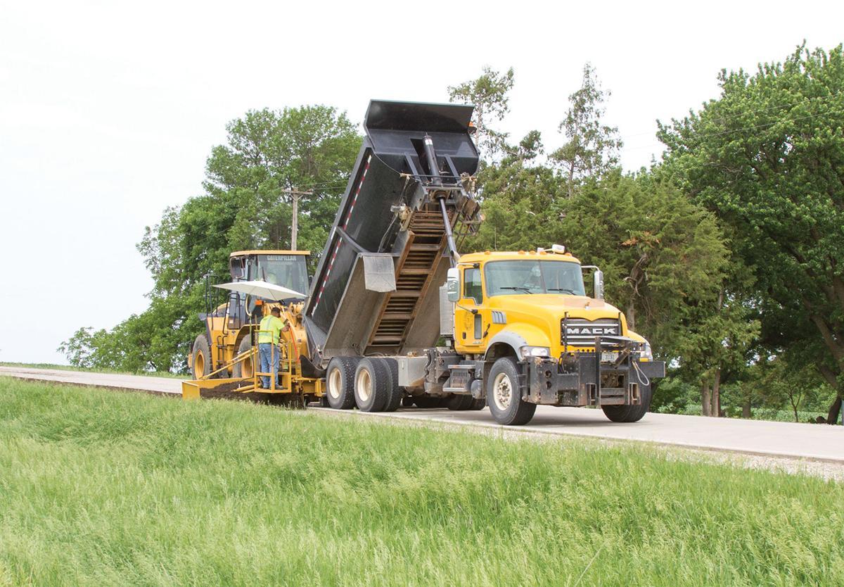 Road work for RAGBRAI