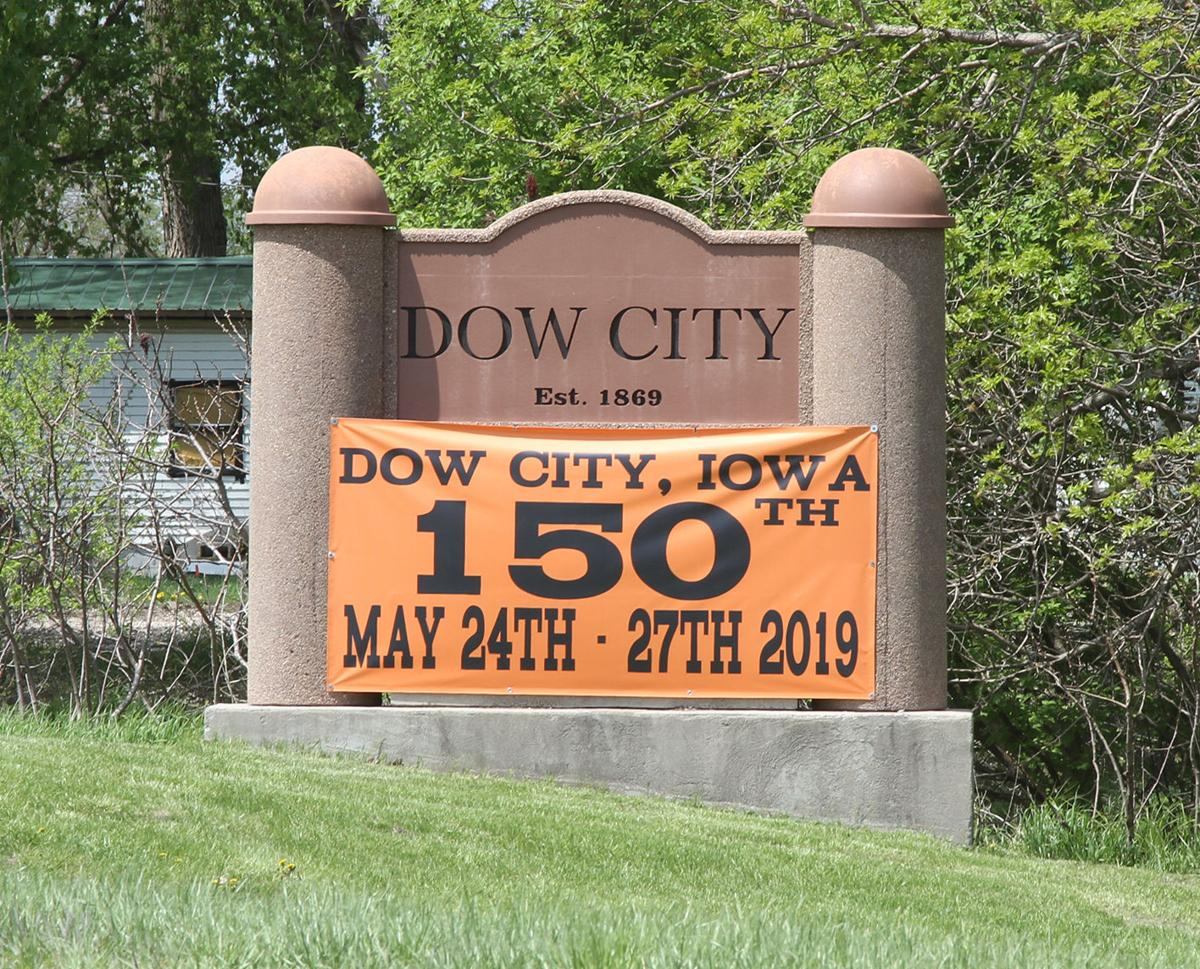 Dow City 150th sign