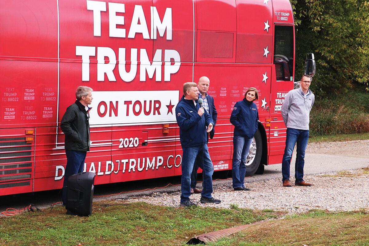 Trump campaign bus visits Dow City