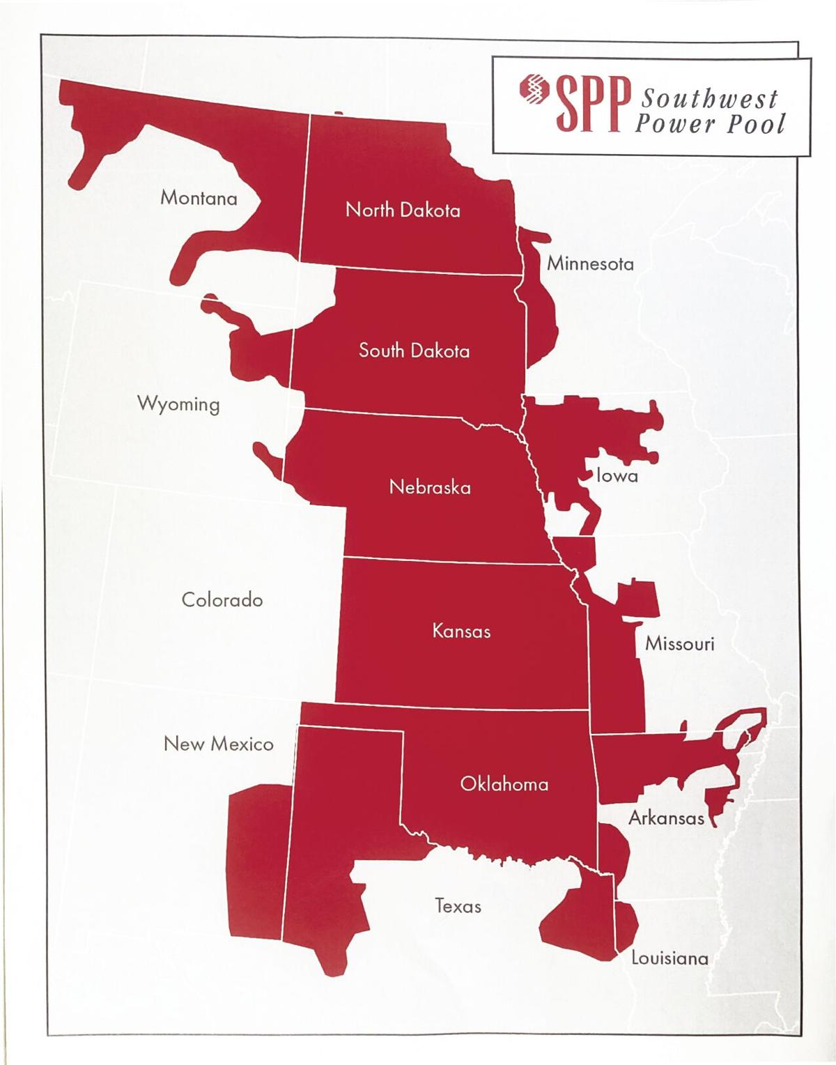 Southwest Power Pool map