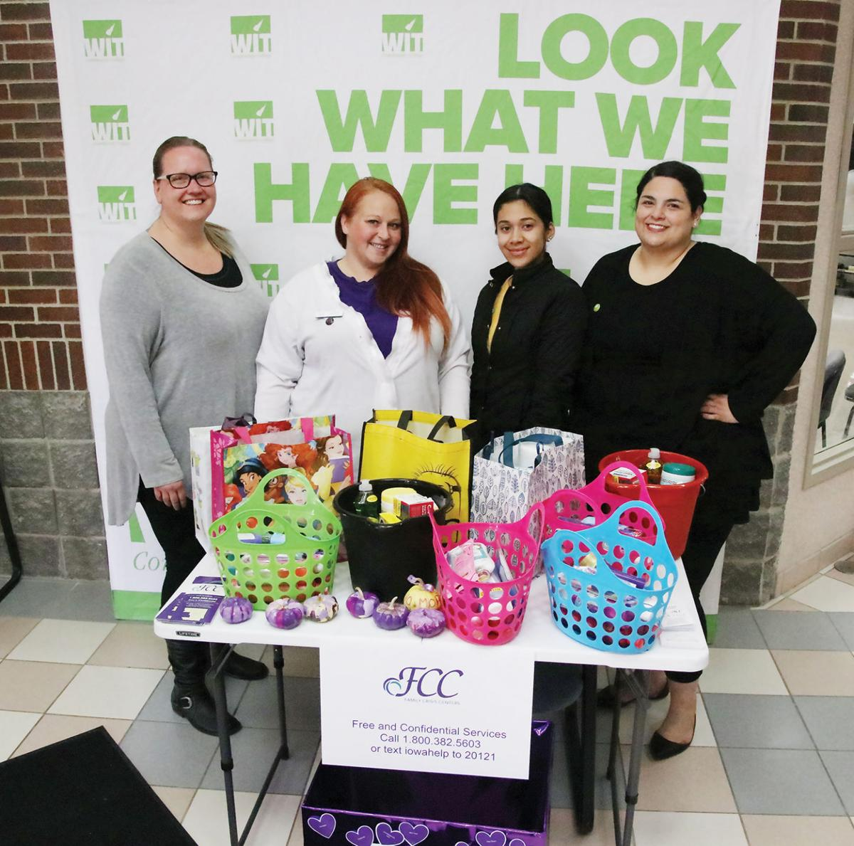 Care packages from WITCC for Domestic Violence Month