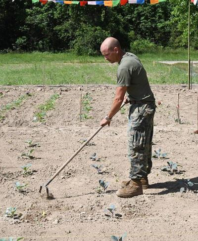 Local Marine plants more than food in community garden