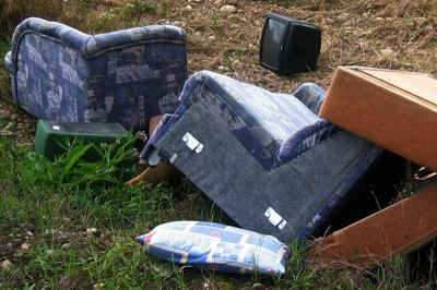 Leaving household trash in base dumpsters is illegal, costly