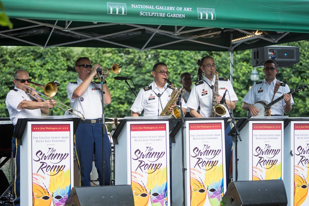 the us army blues swamp romp perform during the jazz in the garden summer concert series at the national gallery of art sculpture garden in washington - Jazz In The Garden Dc