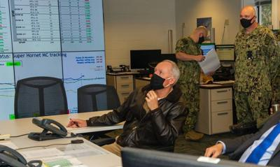 Navy 'Air Boss' visits AIRLANT, observes aviation readiness cell