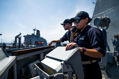 USS Dewey Replenishment-At-Sea