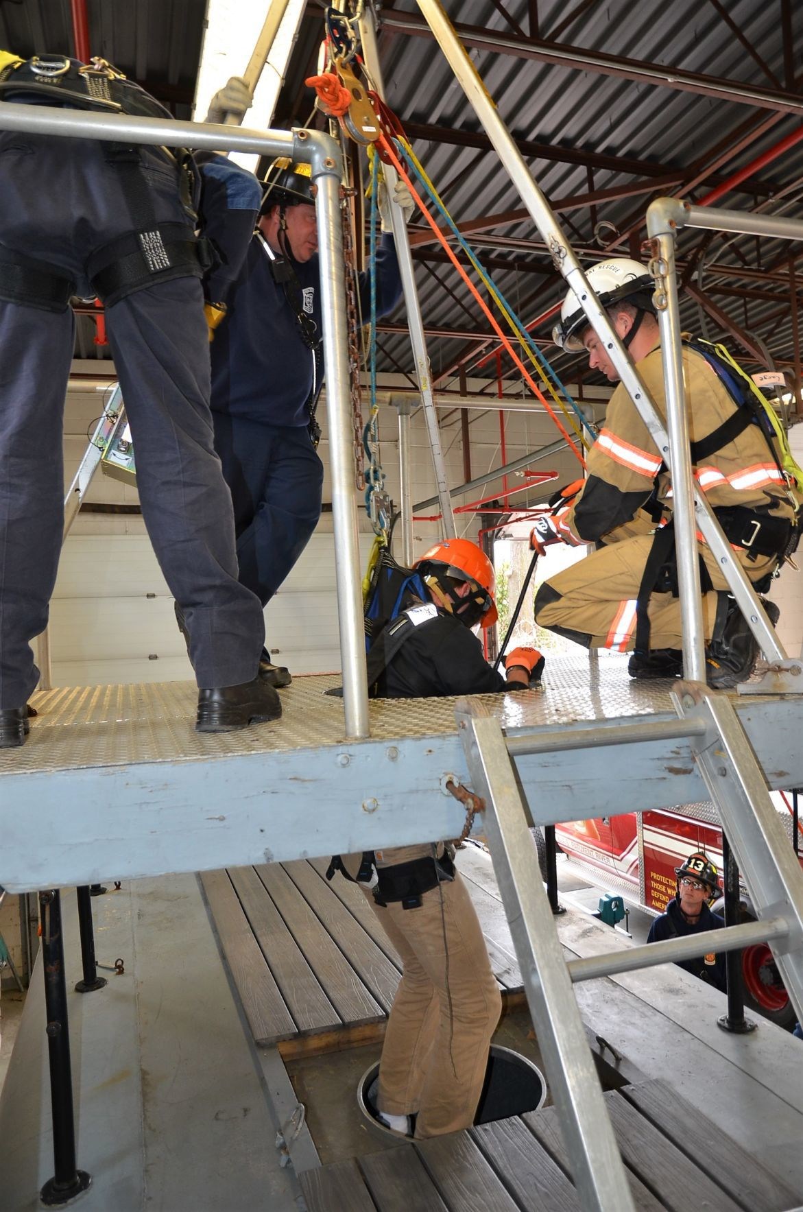 Firefighters Complete Technical Rescue Confined Space