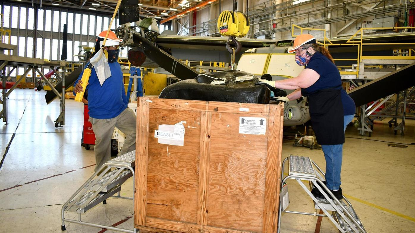 FRCE works with industry to develop new lifting tool for V-22 fuel bladder