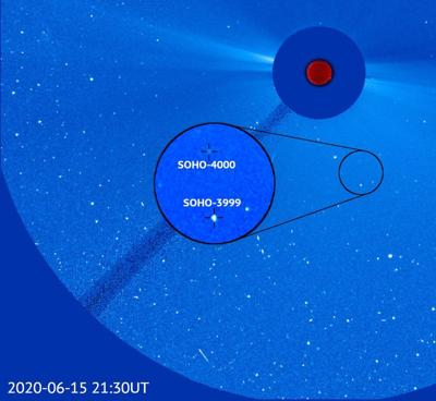 Naval Research Laboratory joint program telescope discovers 4000th comet