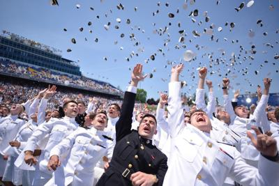 Trump Thanks Naval Academy Graduates for Commitment to Serve