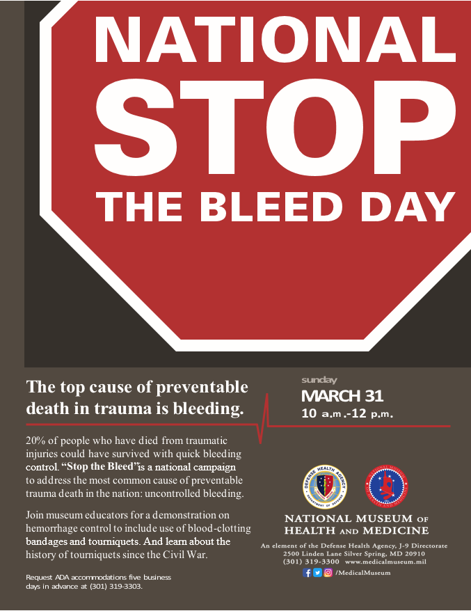 2019 Stop the Bleed Day Flyer