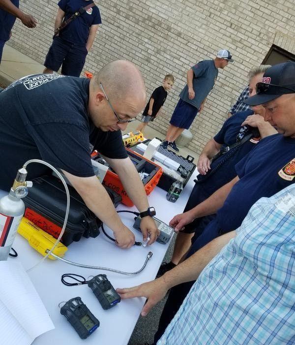 Webster Field, Ridge firefighters attend hazmat training with county